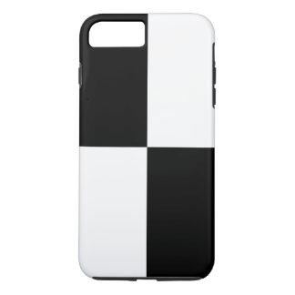 はっきりしたな白黒長方形のiPhone 8のプラスの場合 iPhone 8 Plus/7 Plusケース