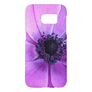 はっきりしたな紫色のアネモネの花のSamsungの銀河系s7の箱 Samsung Galaxy S7 ケース