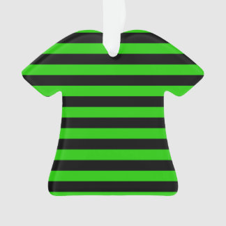はっきりしたな緑および黒いストライプパターン オーナメント