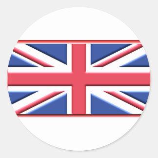 はっきりしたな英国国旗 ラウンドシール