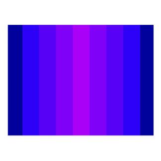 はっきりしたな青い紫色の幸せなデザインのおもしろいのかわいらしいスペクトル ポストカード