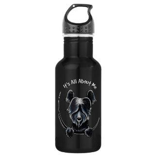 はっきりしたな黒いSkyeテリアIAAM ウォーターボトル