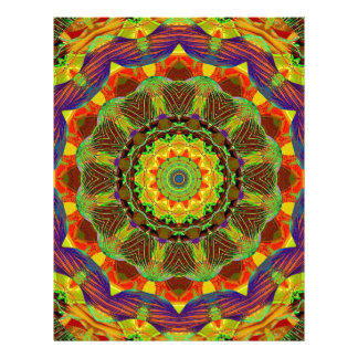 はっきりしたな1万華鏡のように千変万化するパターンの曼荼羅のフラクタルのチャクラ レターヘッド