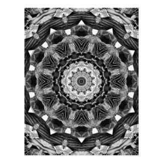 はっきりしたな1bw万華鏡のように千変万化するパターンの曼荼羅のフラクタルのチャクラ レターヘッド