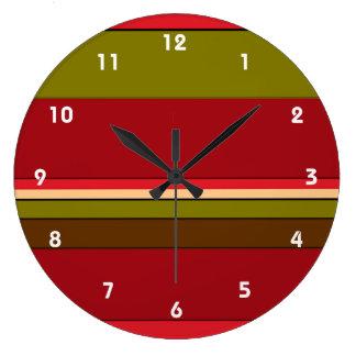 はっきりした縞で飾ります ラージ壁時計