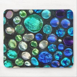 はめ込まれたガラス小石はMacのための付属品をタイルを張ります マウスパッド
