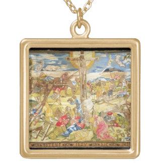 はりつけ1609年(刺繍) ゴールドプレートネックレス