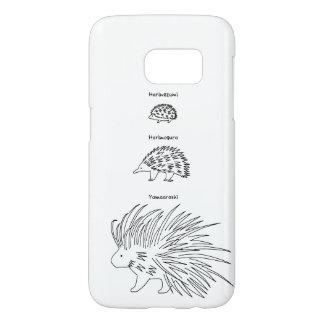 【はりーず(ローマ字-黒】Hedgehog, Echidna, Porcupine(Jp-black Samsung Galaxy S7 ケース