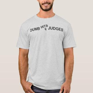 ばかは4人の裁判官に当ります Tシャツ