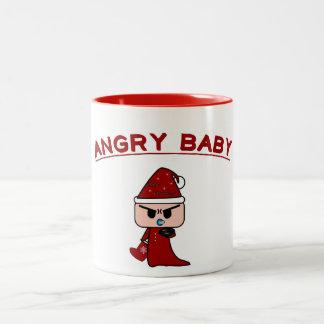 """""""ばかばかしい""""マグ怒っているベビーのデザイン ツートーンマグカップ"""