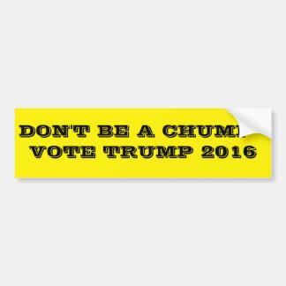 ばか-投票切札2016年--があないで下さい バンパーステッカー