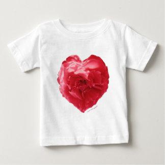 ばら色のハートの赤い子供のワイシャツ ベビーTシャツ