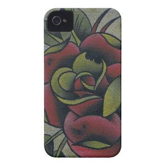 ばら色のブラックベリーの箱 Case-Mate iPhone 4 ケース
