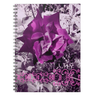 ばら色のヴィンテージ色のスタイル2 ノートブック