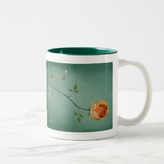 ばら色の優雅のマグ ツートーンマグカップ