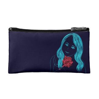 ばら色の女の子の化粧品のバッグ コスメティックバッグ