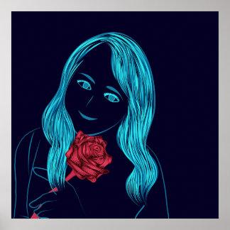 ばら色の女の子ポスター ポスター