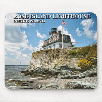 ばら色の島の灯台、ロードアイランドのマウスパッド マウスパッド