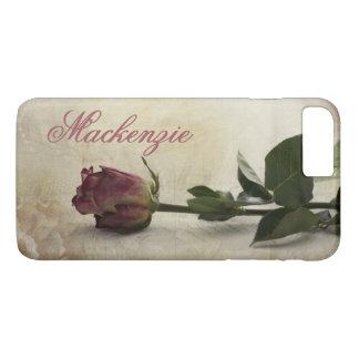 ばら色の技術|の一流のDuskyロマンチックなピンクのヴィンテージのレース iPhone 8 Plus/7 Plusケース
