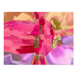 ばら色の水晶- RedRose PinkRoseの芽nの花弁 ポストカード