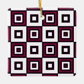 ばら色の眩暈のチェッカーボードの錯覚 セラミックオーナメント