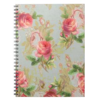 ばら色の花のノート ノートブック