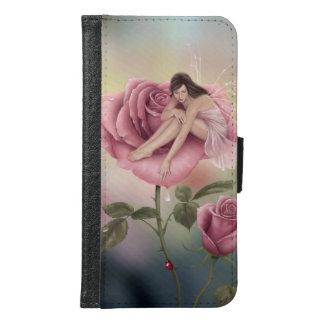 ばら色の花の妖精のSamsungの銀河系S6のウォレットケース Galaxy S6 ウォレットケース