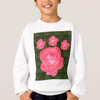 ばら色の花の束のテンプレートDIYは文字の挨拶を加えます スウェットシャツ