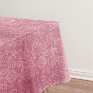 ばら色の花の生地の質のテーブルクロス テーブルクロス
