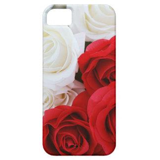 ばら色の花の花の白く赤い愛 iPhone SE/5/5s ケース