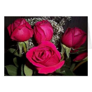 ばら色の花束のバレンタインのカード(大活字) カード