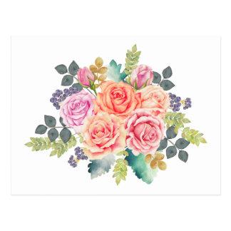 ばら色の花束 ポストカード