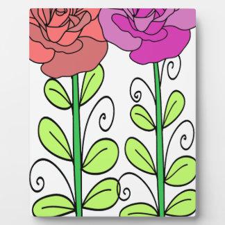 ばら色の花 フォトプラーク