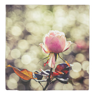 ばら色の花-上品なGal 掛け布団カバー