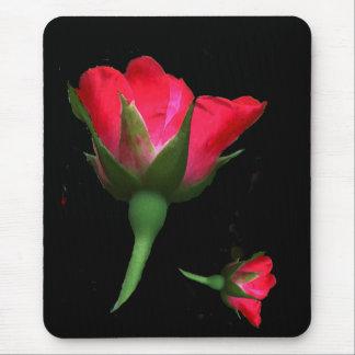 ばら色の芽の花の庭の花 マウスパッド