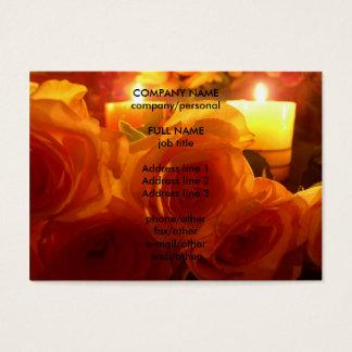 ばら色の蝋燭 名刺
