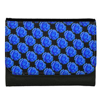 ばら色の財布の青のバラの花の財布のギフト