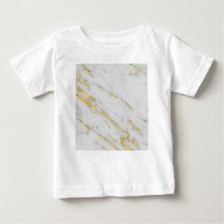 ばら色の金ゴールドの大理石のファッション ベビーTシャツ