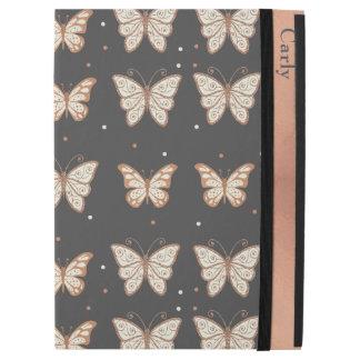 """ばら色の金ゴールドの蝶iPadのプロ場合 iPad Pro 12.9"""" ケース"""