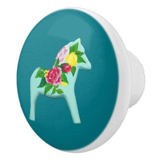 ばら色の馬の陶磁器のノブ セラミックノブ