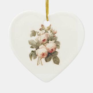 ばら色のRedoutéの美しい花束 セラミックオーナメント