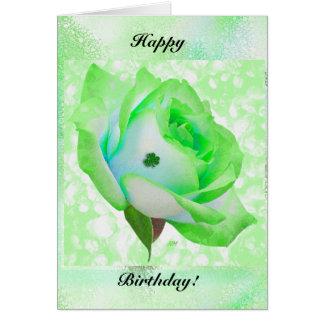 ばら色アイルランド語および誕生日! カード