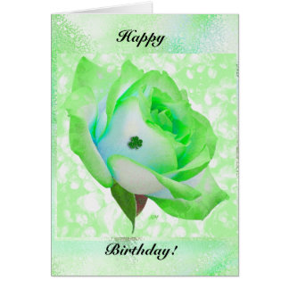 ばら色アイルランド語および誕生日! グリーティングカード