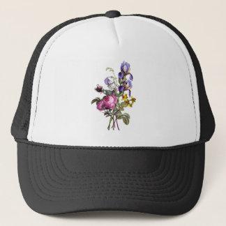 ばら色ジーンルイPrevostのキャベツおよびアイリス花束 キャップ