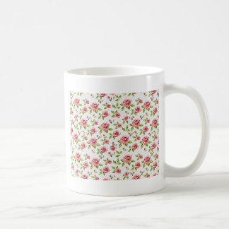 ばら色パターン コーヒーマグカップ