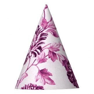ばら色水ピンク花のToile No.3 パーティーハット