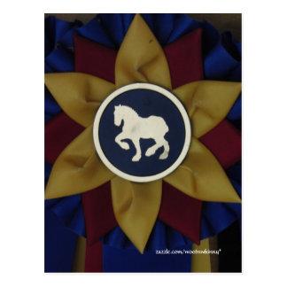ばん馬のロゼット ポストカード