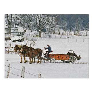 ばん馬のGiddie-Upのアマン派の郵便はがき ポストカード