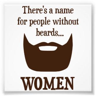 ひげなしに人々の名前があります… 女性 フォトプリント