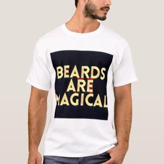 ひげは魔法のTシャツです Tシャツ